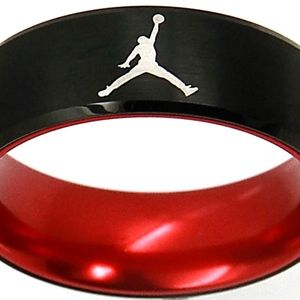 Michael Jordan Ring 8mm Black Tungsten Size 11